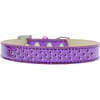 Mirage Pet Products Sprinkles Ice Cream Dog Collar Purple Crystals Size 14 Purple