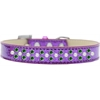Mirage Pet Products Sprinkles Ice Cream Dog Collar Pearl and Emerald Green Crystals Size 14 Purple