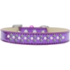 Mirage Pet Products Sprinkles Ice Cream Dog Collar Pearl and AB Crystals Size 16 Purple