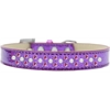 Mirage Pet Products Sprinkles Ice Cream Dog Collar Pearl and Bright Pink Crystals Size 18 Purple