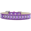 Mirage Pet Products Sprinkles Ice Cream Dog Collar Pearl and Lime Green Crystals Size 18 Purple