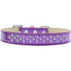 Mirage Pet Products Sprinkles Ice Cream Dog Collar Clear Crystals Size 14 Purple
