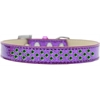 Mirage Pet Products Sprinkles Ice Cream Dog Collar Emerald Green Crystals Size 14 Purple