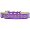 Mirage Pet Products Sprinkles Ice Cream Dog Collar Lime Green Crystals Size 18 Purple