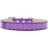 Mirage Pet Products Sprinkles Ice Cream Dog Collar Light Pink Crystals Size 16 Purple