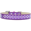 Mirage Pet Products Sprinkles Ice Cream Dog Collar Pearls Size 18 Purple