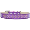 Mirage Pet Products Sprinkles Ice Cream Dog Collar Yellow Crystals Size 14 Purple