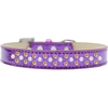 Mirage Pet Products Sprinkles Ice Cream Dog Collar Pearl and Yellow Crystals Size 16 Purple