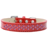 Mirage Pet Products Sprinkles Ice Cream Dog Collar Purple Crystals Size 16 Red