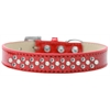 Mirage Pet Products Sprinkles Ice Cream Dog Collar Pearl and Clear Crystals Size 16 Red