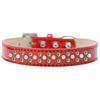 Mirage Pet Products Sprinkles Ice Cream Dog Collar Pearl and Lime Green Crystals Size 18 Red