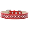 Mirage Pet Products Sprinkles Ice Cream Dog Collar Pearl and Light Pink Crystals Size 18 Red