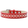 Mirage Pet Products Sprinkles Ice Cream Dog Collar Pearl and Orange Crystals Size 18 Red