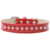 Mirage Pet Products Sprinkles Ice Cream Dog Collar Pearl and Red Crystals Size 16 Red