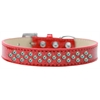 Mirage Pet Products Sprinkles Ice Cream Dog Collar AB Crystals Size 16 Red