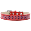 Mirage Pet Products Sprinkles Ice Cream Dog Collar Blue Crystals Size 14 Red