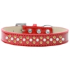 Mirage Pet Products Sprinkles Ice Cream Dog Collar Pearl and Yellow Crystals Size 18 Red