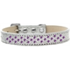 Mirage Pet Products Sprinkles Ice Cream Dog Collar Purple Crystals Size 18 Silver