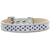 Mirage Pet Products Sprinkles Ice Cream Dog Collar Blue Crystals Size 18 Silver