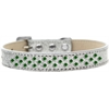 Mirage Pet Products Sprinkles Ice Cream Dog Collar Emerald Green Crystals Size 20 Silver