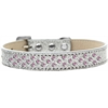 Mirage Pet Products Sprinkles Ice Cream Dog Collar Light Pink Crystals Size 18 Silver