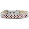 Mirage Pet Products Sprinkles Ice Cream Dog Collar Red Crystals Size 18 Silver