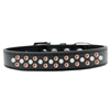 Mirage Pet Products Sprinkles Dog Collar Pearl and Orange Crystals Size 14 Black