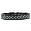 Mirage Pet Products Sprinkles Dog Collar AB Crystals Size 12 Black