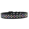 Mirage Pet Products Sprinkles Dog Collar Confetti Crystals Size 14 Black