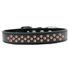 Mirage Pet Products Sprinkles Dog Collar Orange Crystals Size 14 Black
