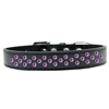 Mirage Pet Products Sprinkles Dog Collar Purple Crystals Size 14 Black