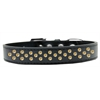 Mirage Pet Products Sprinkles Dog Collar Yellow Crystals Size 16 Black