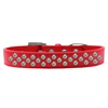 Mirage Pet Products Sprinkles Dog Collar AB Crystals Size 18 Red