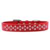 Mirage Pet Products Sprinkles Dog Collar Clear Crystals Size 16 Red