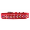 Mirage Pet Products Sprinkles Dog Collar Confetti Crystals Size 14 Red