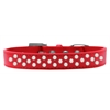 Mirage Pet Products Sprinkles Dog Collar Pearls Size 16 Red