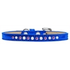 Mirage Pet Products Pearl and Pink Crystal Size 12 Blue Puppy Ice Cream Collar