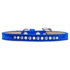 Mirage Pet Products Pearl and Clear Crystal Size 14 Blue Puppy Ice Cream Collar