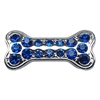 "Mirage Pet Products 3/8"" Slider Bone Charm Dark Blue 3/8"""