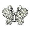 "Mirage Pet Products 3/8"" Slider Butterfly Charm Clear 3/8"""