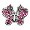 "Mirage Pet Products 3/8"" Slider Butterfly Charm Pink 3/8"""