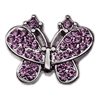 "Mirage Pet Products 3/8"" Slider Butterfly Charm Purple 3/8"""