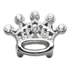 "Mirage Pet Products 3/8"" Slider Crystal Crown Charm Clear 3/8"""