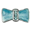 "Mirage Pet Products 3/8"" Enamel Bow Charm Turquoise 3/8"" (10mm)"