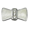 "Mirage Pet Products 3/8"" Enamel Bow Charm White 3/8"" (10mm)"