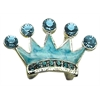 "Mirage Pet Products 3/8"" Slider Enamel Crown Charm Turquoise 3/8"""