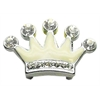 "Mirage Pet Products 3/8"" Slider Enamel Crown Charm White 3/8"""