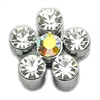 "Mirage Pet Products 3/8"" Slider Flower Charm Clear 3/8"