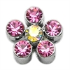 "Mirage Pet Products 3/8"" Slider Flower Charm Pink 3/8"