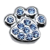 "Mirage Pet Products 3/8"" Slider Paw Charm Blue 3/8"""